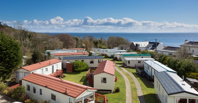 Sandbraes caravan park aerial photo