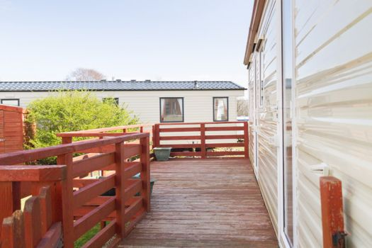 caravan homes on sandbraes holiday park, whiting bay , isle of arran.